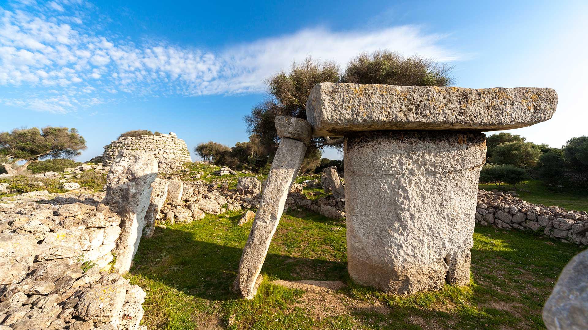 Imagen de un yacimiento arqueológico de Menorca