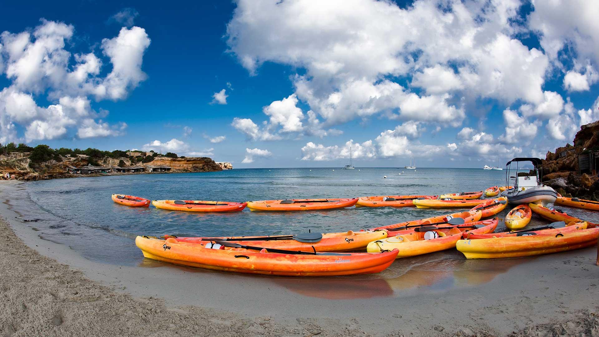 Rutas en kayak en las playas de Formentera