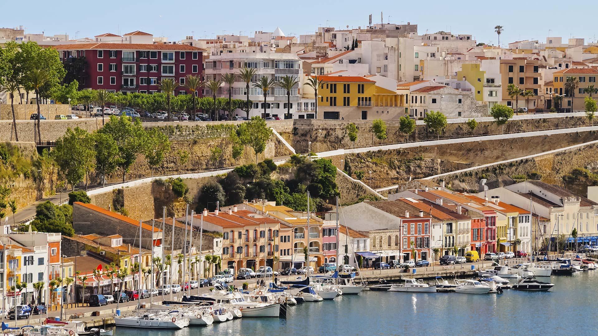 Vista aérea del Puerto de la Ciudadela de Menorca.