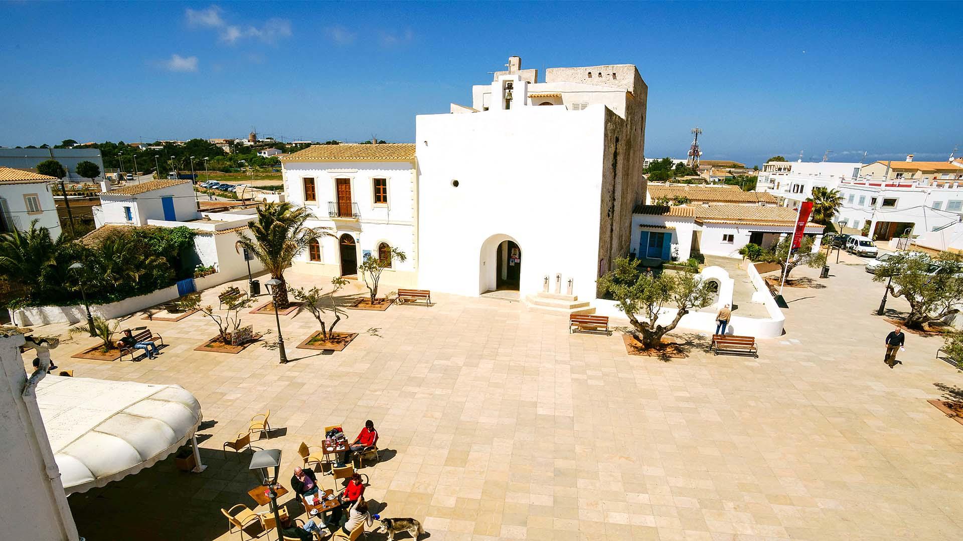 Núcleo Urbano de San Francisco Javier en Formentera