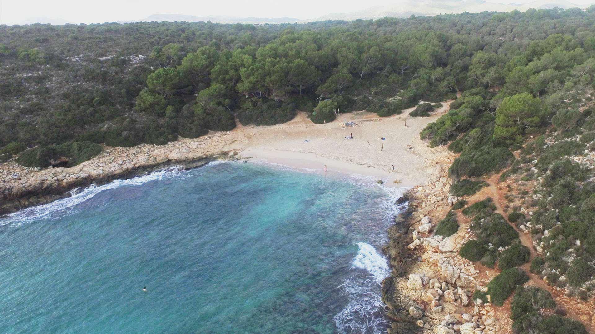 Vista aérea a la Cala Varques de Mallorca
